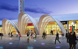 产业园单曲面轻钢结构设计